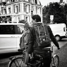 Kissing couples in the street of Amsterdam