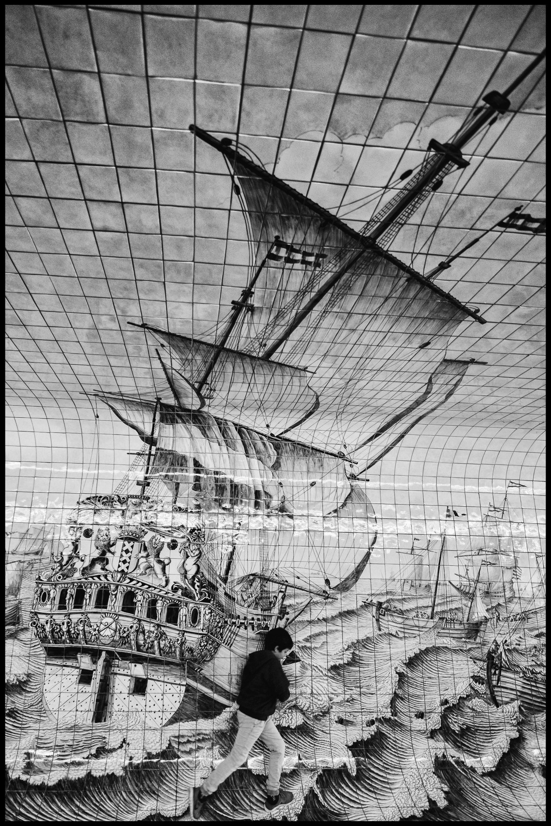 Street art sailing ship amsterdam